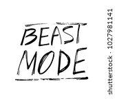 beast mode lettering. stock... | Shutterstock .eps vector #1027981141