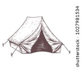 camping tent for tourism ...   Shutterstock .eps vector #1027981534