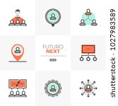 semi flat icons set of human... | Shutterstock .eps vector #1027983589