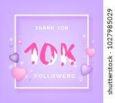 10k followers thank you phrase... | Shutterstock .eps vector #1027985029