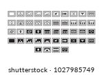 postage icon set collection... | Shutterstock .eps vector #1027985749