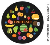 collection of fresh vegetables... | Shutterstock .eps vector #1027988347