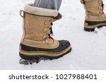mans winter boots | Shutterstock . vector #1027988401