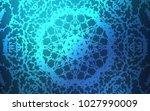 dark blue vector doodle bright... | Shutterstock .eps vector #1027990009