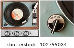 Old Dusty Vinyl Player And...