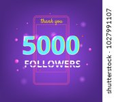 5000 followers thank you phrase ... | Shutterstock .eps vector #1027991107