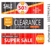set of sale banners design. | Shutterstock . vector #1027991911