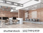 loft open space office with a... | Shutterstock . vector #1027991959