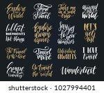 vector set of hand lettering... | Shutterstock .eps vector #1027994401