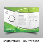 vector modern tri fold brochure ...   Shutterstock .eps vector #1027995355