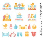 a set of logos with accessories ... | Shutterstock .eps vector #1027995367