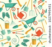 seamless pattern of tools for... | Shutterstock .eps vector #1027995451