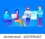 vector illustration in line... | Shutterstock .eps vector #1027996267