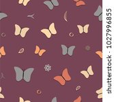 seamless spring pattern with... | Shutterstock .eps vector #1027996855