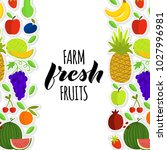 vector illustration of fruits... | Shutterstock .eps vector #1027996981