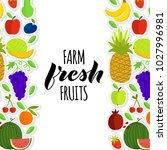vector illustration of fruits... | Shutterstock .eps vector #1027996981