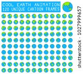 earth animation  globe rotation ... | Shutterstock .eps vector #1027999657