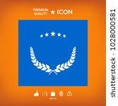 laurel wreath symbol | Shutterstock .eps vector #1028000581