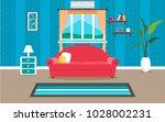 living room interior vector...   Shutterstock .eps vector #1028002231