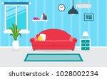 living room interior vector... | Shutterstock .eps vector #1028002234