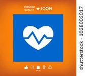 heart medical icon | Shutterstock .eps vector #1028003017