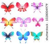 color beautiful butterflies ... | Shutterstock .eps vector #1028004979