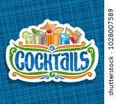 vector logo for cocktails ... | Shutterstock .eps vector #1028007589