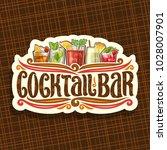 vector logo for cocktail bar ... | Shutterstock .eps vector #1028007901