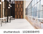 dark wooden panoramic cafe... | Shutterstock . vector #1028008495
