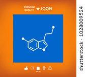 chemical formula icon. serotonin | Shutterstock .eps vector #1028009524