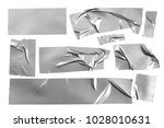 grey  silver duct repair tape... | Shutterstock . vector #1028010631