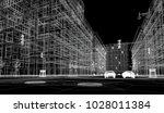 downtown new york  3d... | Shutterstock . vector #1028011384