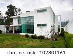 big modern house | Shutterstock . vector #102801161