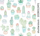 vector seamless pattern of... | Shutterstock .eps vector #1028012491