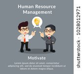 human resource management...   Shutterstock .eps vector #1028012971