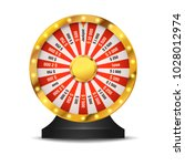 golden bright fortune wheel... | Shutterstock .eps vector #1028012974