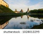 the city of pskov. russian city.... | Shutterstock . vector #1028013295