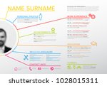 vector original minimalist cv   ... | Shutterstock .eps vector #1028015311