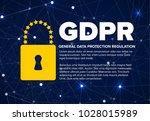 european gdpr concept flyer... | Shutterstock .eps vector #1028015989