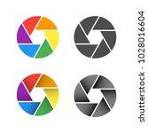 zoom camera set | Shutterstock .eps vector #1028016604