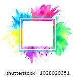 happy holi. indian festival... | Shutterstock .eps vector #1028020351