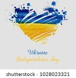 ukraine independence day... | Shutterstock .eps vector #1028023321