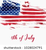 usa independence day background.... | Shutterstock .eps vector #1028024791