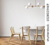 long white dining room table... | Shutterstock . vector #1028025469