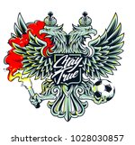 russian national symbol two...   Shutterstock .eps vector #1028030857