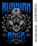 russian rage vector art. print...   Shutterstock .eps vector #1028030914