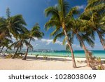 beautiful ladscape of boracay... | Shutterstock . vector #1028038069
