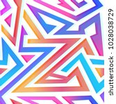 colored triangle seamless...   Shutterstock .eps vector #1028038729