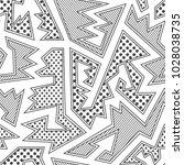 monochrome tribal seamless...   Shutterstock .eps vector #1028038735