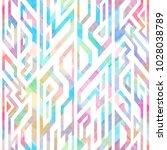multicolor geometric seamless... | Shutterstock .eps vector #1028038789